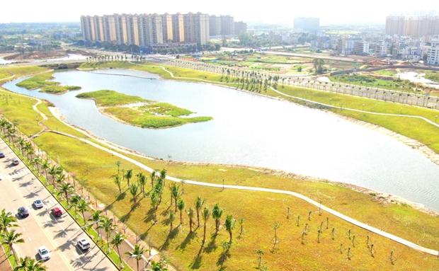 原创组图 | 美哉!海口水系生态修复工程项目博养河段完成