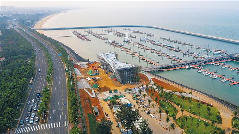 """海口:帆船帆板公共游艇码头""""上新""""游客中心"""
