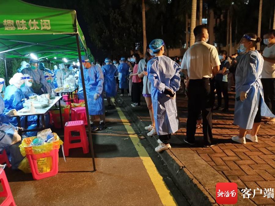 凌晨集结!上海六院海口医院50名医护人员持续奋战18小时采样3800份