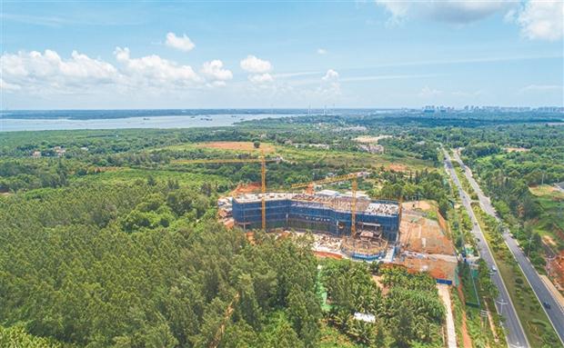 文昌国际航天城产业服务中心项目加快施工 预计今年底前基本完成建设