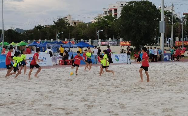 2021年全國沙灘足球錦標賽(sai)預選賽(sai)三亞站開幕
