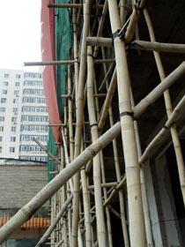 20层图纸用大楼脚手架在建竹制无安全网[图]签收确认单高楼图片