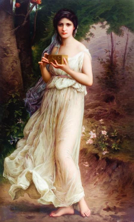 气质古典美女手绘