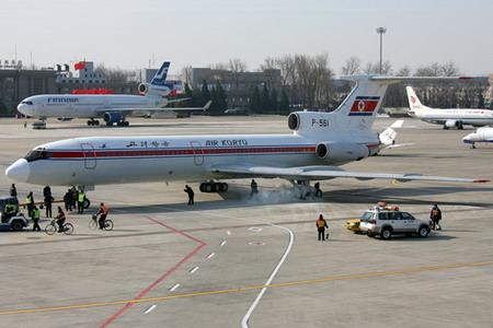 朝鲜高丽航空公司一架js151航班从平壤飞到北京首都机场时,因飞机滑行