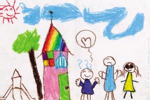 幼儿园孩子画《我的家》33家只有高楼没爸妈图片