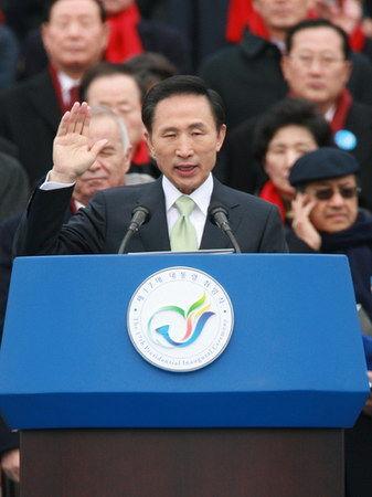 李明博就任韩国总统后年薪超过2亿韩元