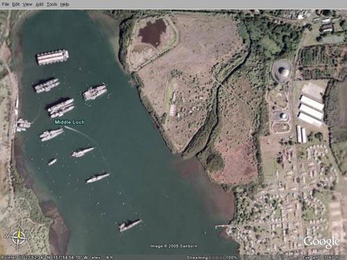 五角大楼禁止谷歌拍摄美军基地实景图[组图]