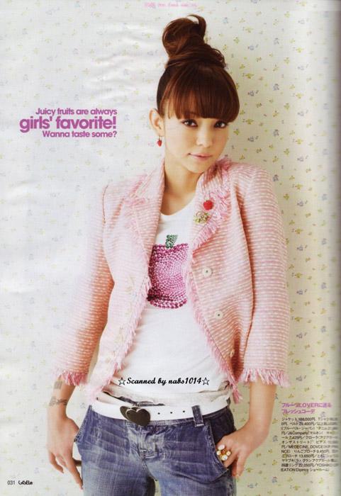 组图:安室奈美惠夏季绽放 变身可爱糖果女孩