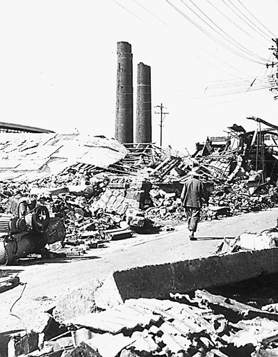 地震的-上大地震后的唐山.资料照片-唐山经验 如何助力灾区 新生