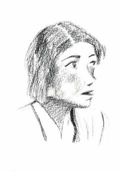 马元中为妈妈周美青画的素描,刊载在台湾《亲子天下》刊号中的周美图片