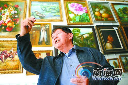 陈有俊和他的农民画匠学校(图)_屯昌新闻网_屯