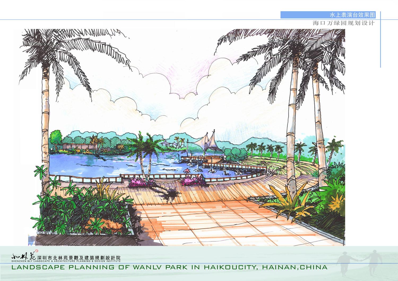 驳岸手绘设计图a3