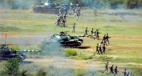 军事资讯_资料图:巴基斯坦陆军军事演习.