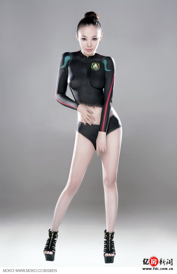 不同于张筱雨苍井空人体艺术 世界杯裸女彩绘