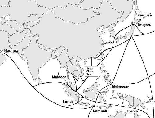 亚洲地形图手绘图片