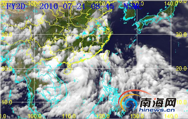 """暴""""灿都""""分时卫星云图(图片来源:海南省气象台)-组图 2010年图片"""