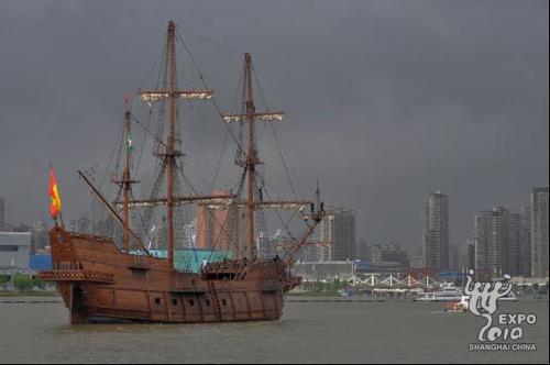 """航行中的""""安达卢西亚号""""帆船"""