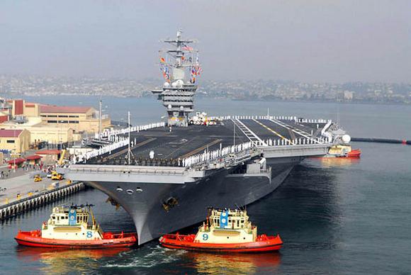 尼米兹级核动力航母_图文美国杜鲁门号核动力航母