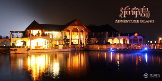 《绝命岛》海上皇宫 灯壁辉煌的别墅夜景