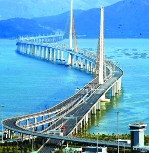 深圳湾跨海大桥使深港两地连得更紧图片