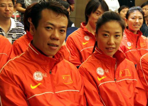 GE续约中国花样滑冰队 申雪微微一笑