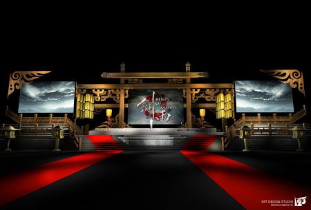 《劍雨》首映禮舞美方案主設計元素參考電影實際場景氛圍,部分造型為