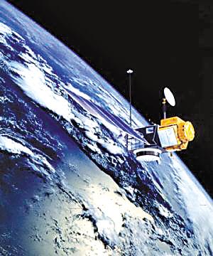 航天卫星外观手绘