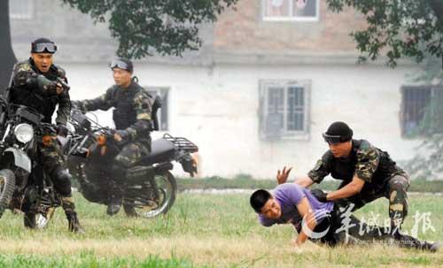 中国特种部队演示围歼恐怖分子   摄 -中泰陆军特种兵联合训练 分享城