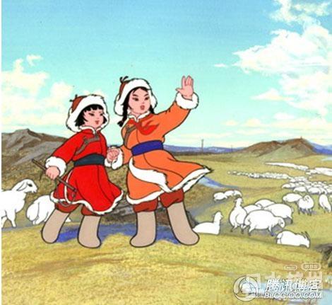 蒙古族儿童人物简笔画