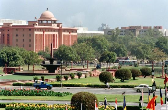 历届亚运会举办城市介绍 印度新德里街景图片
