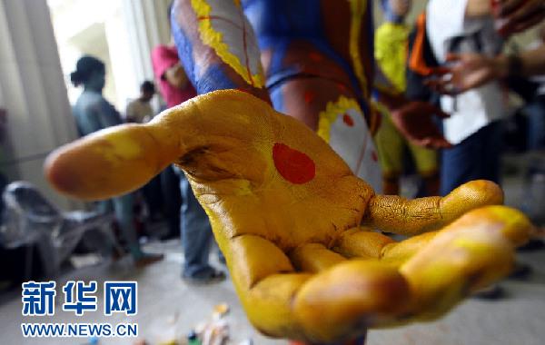 人体艺术欧美泰国_委内瑞拉举办第五届国际人体艺术展