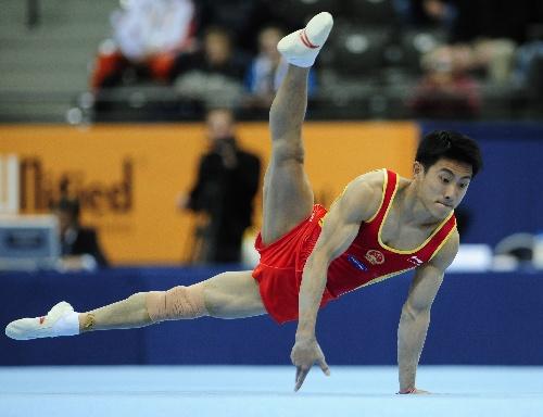 中国男团亮相体操世锦赛 滕海滨自由体操