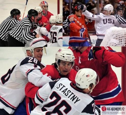 全球赛场上最知名的 群殴 冬奥会冰球比赛