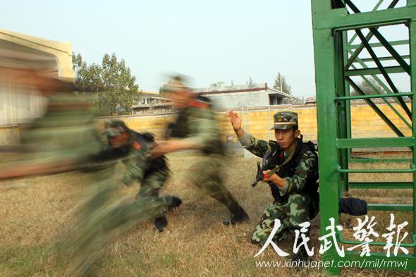 五小将扬威赛场 武警济宁支队军事比武创优