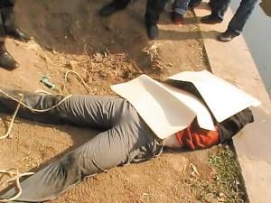 男子落入河中溺水身亡 警方征集死者身份(图)