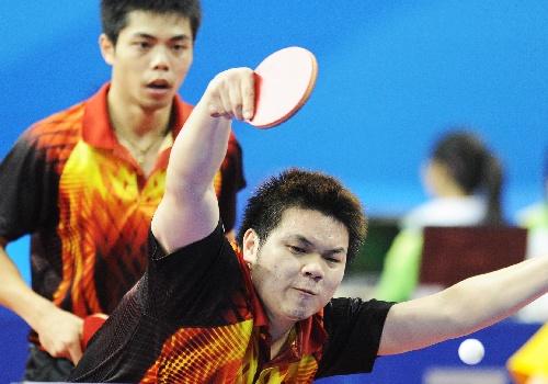 庄智渊吴志祺晋级男双16强 进攻姿态怪异