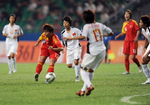 中国女足vs越南女足(3)图片 中国女足vs越南女