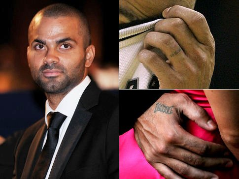 Tony Parker Ring Finger Tattoo