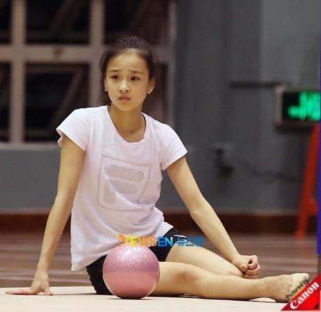 韩国艺术体操队进行了训练