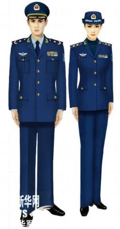 07式军服空军-我军新式常服棉大衣配发部队图片