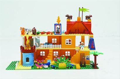 积木搭建房子简笔画