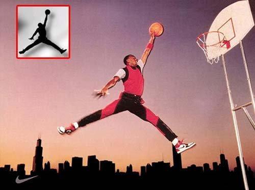 1984年乔丹为耐克拍摄广告,日后这个剪影红遍全球图片