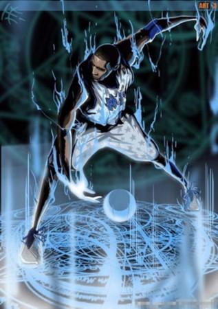 NBA火焰漫画科比a火焰如同麦蒂毕露蓝色英雄大世界漫画图片