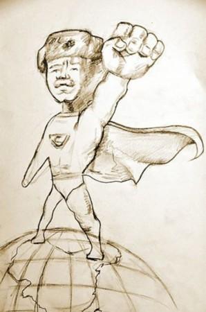 利用课余时间创作了《新编雷锋故事50则——漫画版》,目前正在筹划3月图片