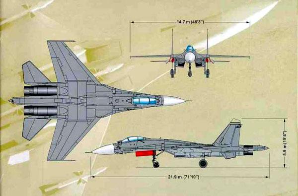 苏27模型飞机图纸