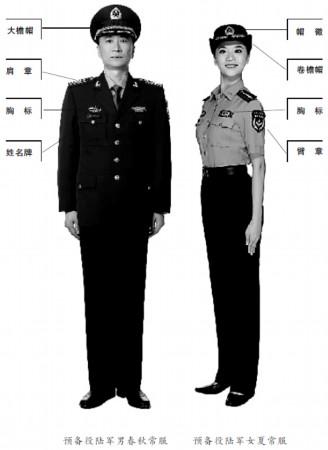 图解07式预备役军服图片