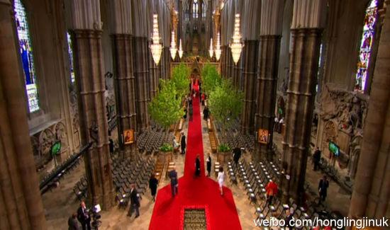 ...国威廉王子婚礼在伦敦威斯敏斯特教堂举行.   嘉宾入场