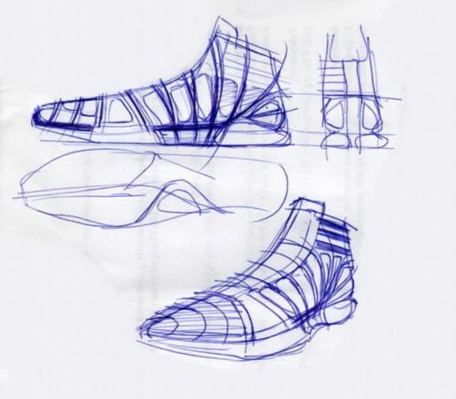 2/12   Crazy Light PrelimSketch   北京时间5月2日 阿迪达斯刚刚推出了夏季主打篮球鞋款adiZero Crazy Light,众多为阿迪代言的球星已经穿着此鞋出现在了赛场上。近日,Crasy Light设计稿曝光,从手稿到电子绘图,这份设计稿一应俱全,每一张都凝结着设计师的心血与智慧。图为Crazy Light设计稿欣赏。