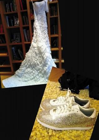 婚纱和婚鞋