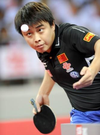金牌-2011乒乓球直横v金牌专注王皓开幕很发球图文第一块田径